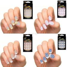 25 Colors Lady Girl Manicure Acrylic Nail Tips Beauty False Nail Art Tips 24PCS