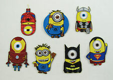 MINIONS SUPERHEROES Embroidered Iron Sew On Patch