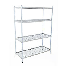 Stainless Steel 4 Tier 304g Wire Shelving Unit (1700mm High)