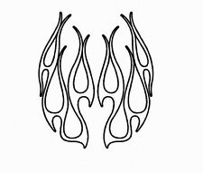 OUTLINE FLAME HOOD #3 DECAL SET VINYL GRAPHIC CAR TRUCK CROSS OVER SUV  VEHICLE