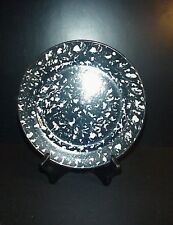Stangl Town & Country Salad Plate Black White Spongeware