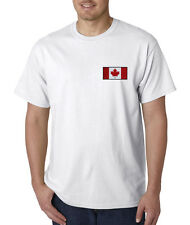 Canadian Flag Canada Pride Hockey Embroidered T-Shirt S-3XL