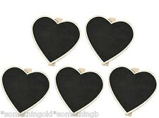 Wooden heart shaped chalk board pegs for wedding table decoration table number