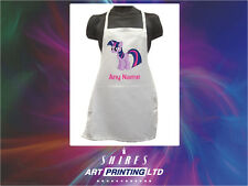 TWILIGHT SPARKLE My Little Pony Childrens Personalised Apron, Painting, Crafts