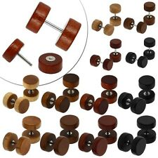 Wooden Earrings Ear Ring Wood Timber Fakeplug Piercing Tunnel Nature 8 10 12 mm