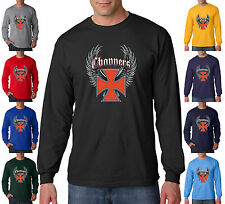 Choppers Wings Biker Iron Cross Biker Motorcycle Hog Long Sleeve Tee Shirt