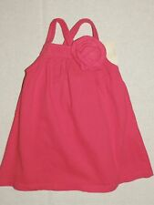Crazy8 by Gymboree Coral Red Corsage Flower Knit Dress NWT Summer Spring BABY