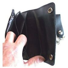 Biker Wallet rough brown,Leather bike wallet with chain and coin compartment