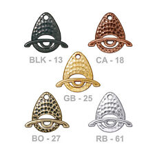 TierraCast Ellipse Toggle Clasp - 5 color options - plated pewter jewelry clasp