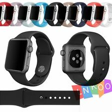 2Pcs Silicone Sports Bracelet Watch Band Replacement Strap For Apple Watch