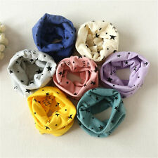 Boys Girls Winter Autumn Neck Collar Baby Scarf Cotton Star O Ring Neck Scarves