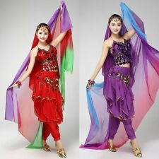 Vogue Nice Lady Girls Gradient Color Face Scarf Belly Dance Costume Headscarf