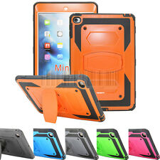 Heavy Duty Shockproof Hybrid Tough Hard Case Stand Cover For Apple iPad mini 4