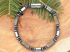 Men's Powerful Magnetic Hematite DRUM Bracelet Necklace 12 choices of Gemstones