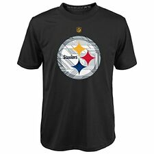 Pittsburgh Steelers NFL Toddler/Youth Black Short Sleeve Dri-Tek T-Shirts: 4-7