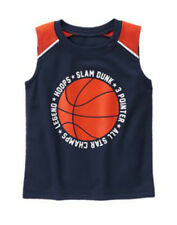 NWT Gymboree HOP 'N ROLL Hoops Basketball Jersey Tank Top Shirt