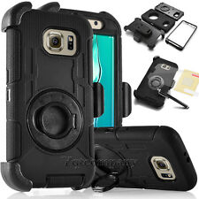 BLACK REFINED HEAVY DUTY ARMOR CASE PHONE HARD COVER & BELT CLIP HOLSTER + MORE