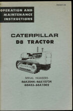 Rare Original Factory Caterpillar D8 Tractor Owner's Maintenance Manual