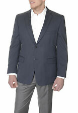 Club Room Classsic Fit Navy Blue Herringbone Two Button Blazer Sportcoat