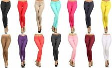 Womens Stretchy Basic Sexy Cotton Slim Pants Pencil Skinny Jeggings 15 Colors