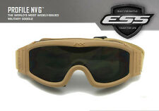 ESS profile NVG 3 Lenses Ballistic Military Goggles Fit with Helmet Eyeshield