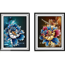 5D Peony Flower DIY Crystal Diamond Painting Cross Stitch Embroider Home Decor