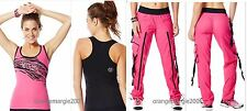 "Zumba FITNESS ZUMBA'S ""Top of the Line"" CARGO PANTS & SAFARI RACERBACK Top S M"