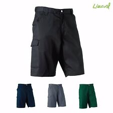 Mens Cargo Russell Shorts Workwear Polycotton Twill  Expandable Waistband J002M