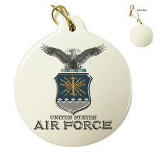 USAF Missile - Air Force Christmas Xmas Tree Porcelain Ornaments