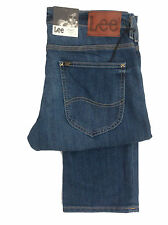 LEE POWELL LOW RISE SLIM FIT BUTTON FLY FASHION STRETCH JEAN - BLUE FADED DENIM