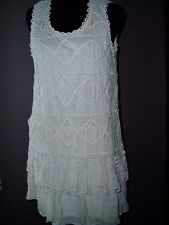 BLU  BLUE PEPPER LADIES WOMENS STUNNING SUMMER LACE DRESS OFF WHITE NEW WITH TAG