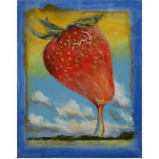 Poster Print Wall Art entitled Strawberry Rainbow Taffy