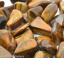 Golden Tiger Eye 20mm QTY3 Tumbled Stone Healing Crystal Divination Good Luck