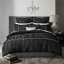 Platinum Logan and Mason FRANCESCA BLACK Duvet Doona Quilt Cover Set 3 Sizes