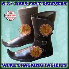 Medieval Leather Boots Brown Re-enactment Mens Shoe Larp Role-Play Costume Boot