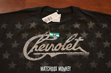 Chevy Chevrolet T-Shirt Officially Licensed Americana Patriotic Flag Vintage NWT