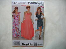 Simplicity Suede Says 1691 Sewing Pattern - Dress in 2 Lengths - New Uncut