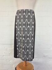 M&S Black & White Skirt, Straight, Pencil, Stretchy - Size 12, free post