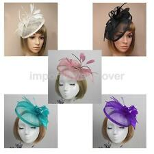 Yarn Flower Feather Headband Fascinator Wedding Hairband Alice Band Headpiece