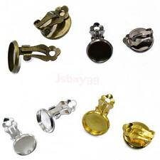 12pcs Cabochon Setting Earring Clip On Earring Finding Gold/Silver/Bronze/Black