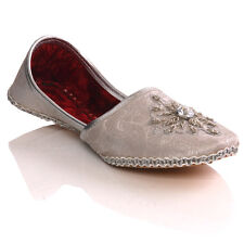 UNZE BOYS 'DERBY' LEATHER EMBROIDERED INDIAN KHUSSA PUMPS SHOES SIZES UK 1-13 SI