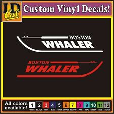 One (1) Pair BOSTON WHALER Vinyl boat truck car window replacement decal sticker