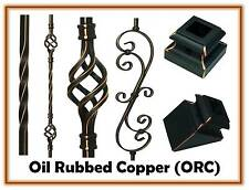 Oiled Rubbed Copper Iron stair parts Metal spindles Iron balusters basket twist