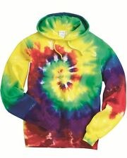 Tie-Dyed - Multi-Color Spiral Pullover Hooded Sweatshirt - 854MS