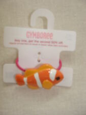 Gymboree FLORAL REEF Orange Clown Fish Pony Tail Hair Holder NWT 4 5 6 7 8 9 10