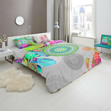 HIP XANDINE Bohemian Doona Quilt Cover Set Single Double Queen King Size Bed
