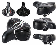 New Unisex Big Wide Bum Bike Bicycle Cycle Extra Comfort Soft Saddle seat 3 Size