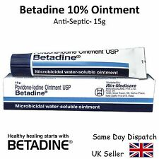 Betadine Povidone Iodine Ointment 10%-Antiseptic for Skin Infection, Burns - 15g