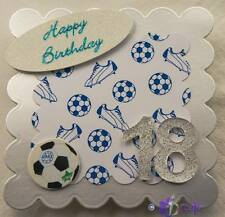 18th Birthday Topper for Card making - Perfect for a Football lover's Birthday