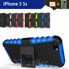 TPU Heavy Duty Case Cover For Apple iPhone 5 5S Shockproof  With Kickstand